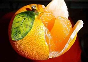 плоды апельсина в разрезанном виде